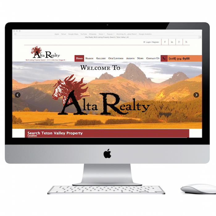 altarealty.com local business website