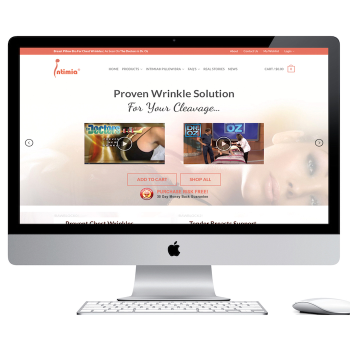 ecommerce website intimia.com